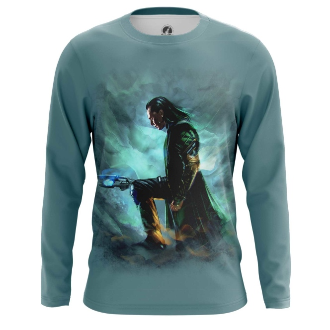 Merchandise Men'S Long Sleeve Loki Chitauri Scepter Print