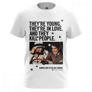 Merchandise Men'S T-Shirt Bonnie And Clyde Jersey Print Top