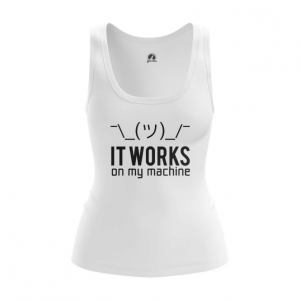Merchandise Women'S Vest It Works On My Machine Web Coding Humor Top Tank