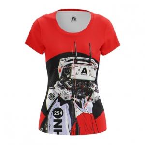 Merchandise Women'S T-Shirt Robot Cyberpunk Red Top