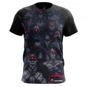 Merch Men'S T-Shirt Cyber Zombie Cyberpunk Top