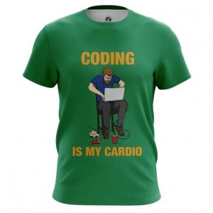 Merchandise Men'S T-Shirt Coding Is My Cardio Web Developer Top