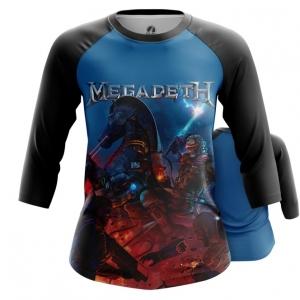 Merchandise Women'S Raglan Megadeth Heavy Metal Band