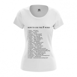 Merchandise Women'S T-Shirt How To Use F Word Examples Top