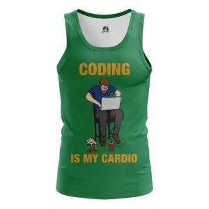 Merchandise Men'S Vest Coding Is My Cardio Web Developer Top