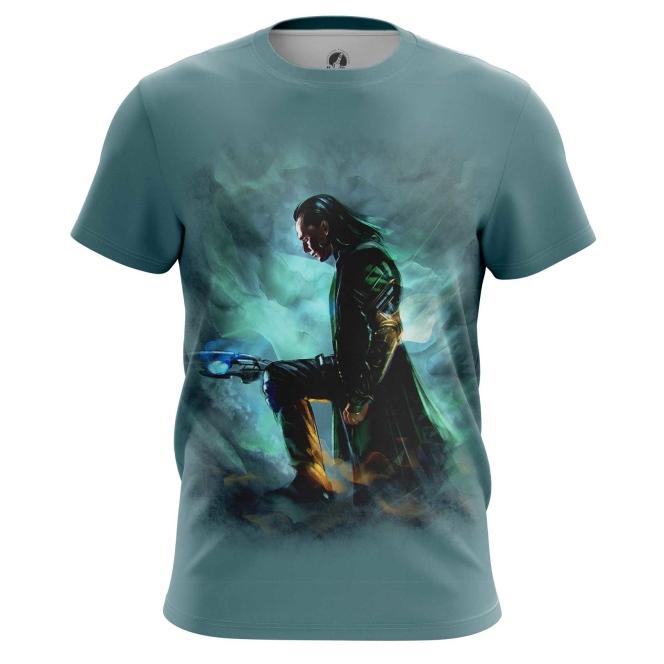 Merchandise Men'S T-Shirt Loki Chitauri Scepter Print Top