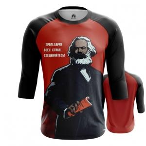 Merchandise Men'S Raglan Karl Marx Marxism Red Art