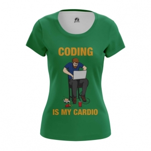 Merchandise Women'S T-Shirt Coding Is My Cardio Web Developer Top