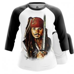 Collectibles Women'S Raglan Captain Jack Sparrow