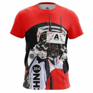 Merchandise Men'S T-Shirt Robot Cyberpunk Red Top