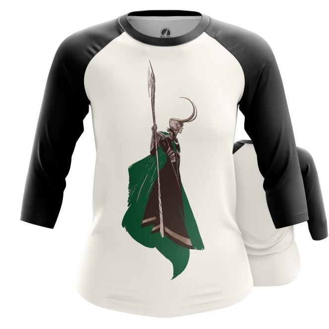 Merchandise Women'S Raglan Loki Minimalist Tom Hiddleston