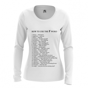 Merchandise Women'S Long Sleeve How To Use F Word Examples