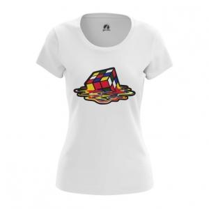 Merch Women'S T-Shirt Sheldon Cooper Rubik'S Cube Melting Top