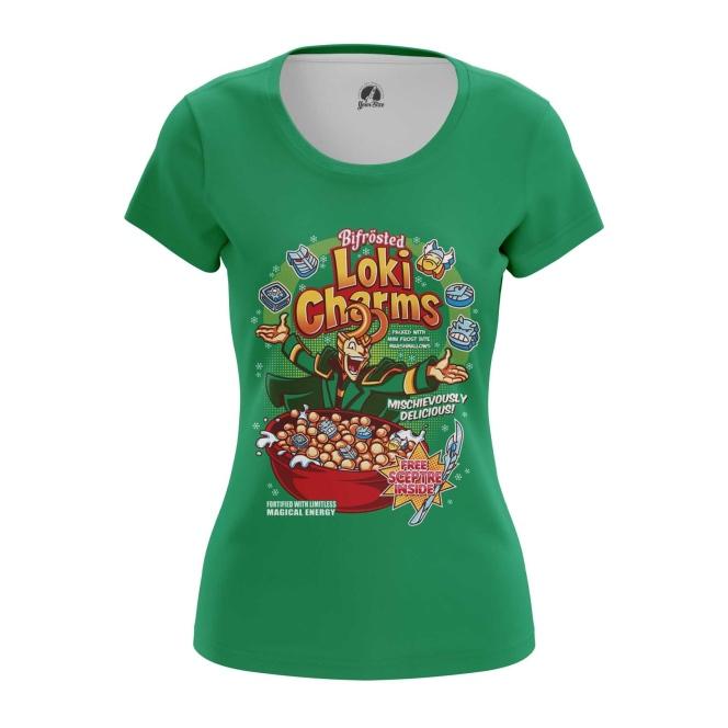 Merchandise Women'S T-Shirt Loki Charms Comics Print Top