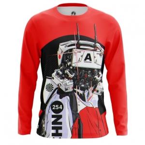 Merchandise Men'S Long Sleeve Robot Cyberpunk Red