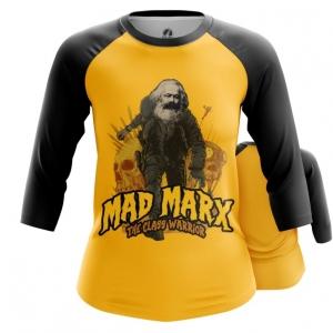 Merchandise Women'S Raglan Karl Marx As Mad Max