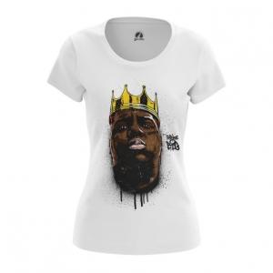 Merchandise Women'S T-Shirt Biggie Smalls Portrait Print Top