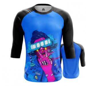 Merchandise Men'S Raglan Cyberpunk Neon Blue