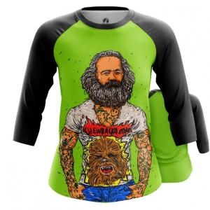 Merchandise Women'S Raglan Karl Marx Green Fun Print