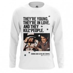 Merchandise Men'S Long Sleeve Bonnie And Clyde Jersey Print