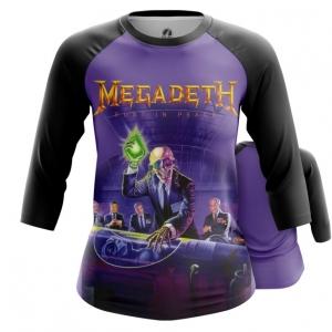 Merchandise Women'S Raglan Rust In Peace Megadeth Purple