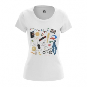 Merch Women'S T-Shirt Stranger Things Pattern Top