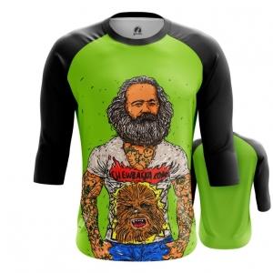 Merchandise Men'S Raglan Karl Marx Green Fun Print