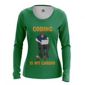 Merchandise Women'S Long Sleeve Coding Is My Cardio Web Developer