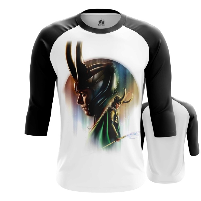 Merchandise Men'S Raglan Loki Odinson Marvel Print