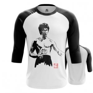 Merchandise Men'S Raglan Bruce Lee Black And White Print