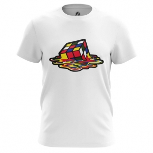Merch Men'S T-Shirt Sheldon Cooper Rubik'S Cube Melting Top