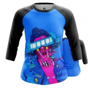 Merchandise Women'S Raglan Cyberpunk Neon Blue