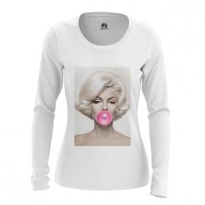 Merchandise Women'S Long Sleeve Marilyn Monroe Bubble Gum