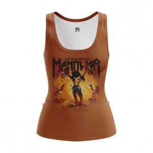 Merchandise Women'S Vest Manowar Band Top Tank