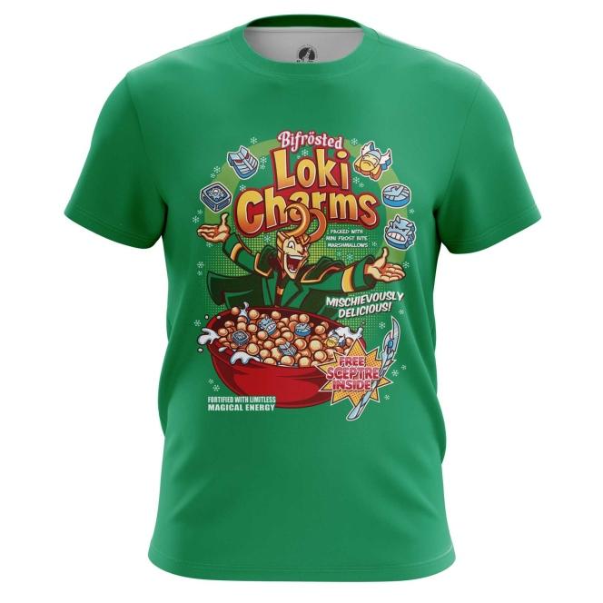 Merchandise Men'S T-Shirt Loki Charms Comics Print Top