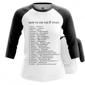 Merchandise Women'S Raglan How To Use F Word Examples