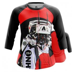 Merchandise Women'S Raglan Robot Cyberpunk Red