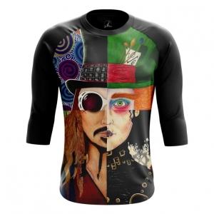 Merchandise Men'S Raglan Johnny Depp Alter-Ego Characters