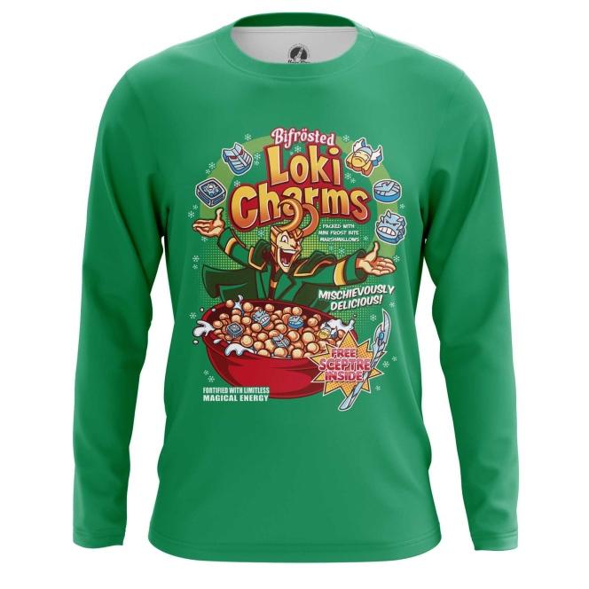 Merchandise Men'S Long Sleeve Loki Charms Comics Print