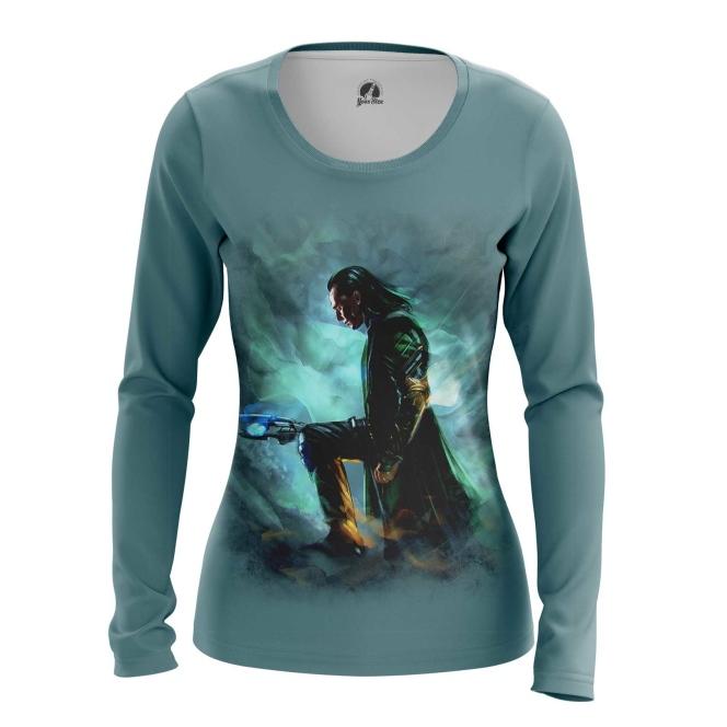 Merchandise Women'S Long Sleeve Loki Chitauri Scepter Print