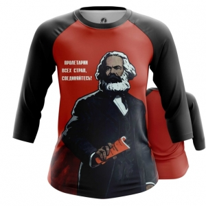 Merchandise Women'S Raglan Karl Marx Marxism Red Art