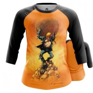 Merchandise Women'S Raglan Megadeth Band Orange