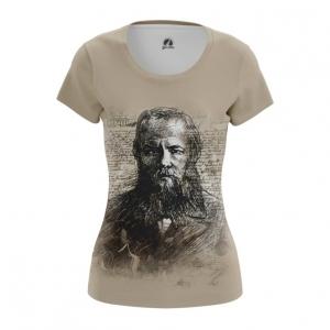 Collectibles Women'S T-Shirt Fyodor Dostoyevsky Russian Novelist Top