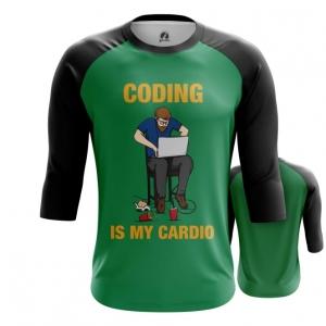 Merchandise Men'S Raglan Coding Is My Cardio Web Developer