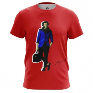 Collectibles Men'S T-Shirt Alexander Pushkin Poet Novelist Top