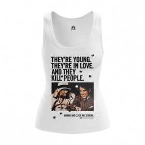 Merchandise Women'S Vest Bonnie And Clyde Jersey Print Tank
