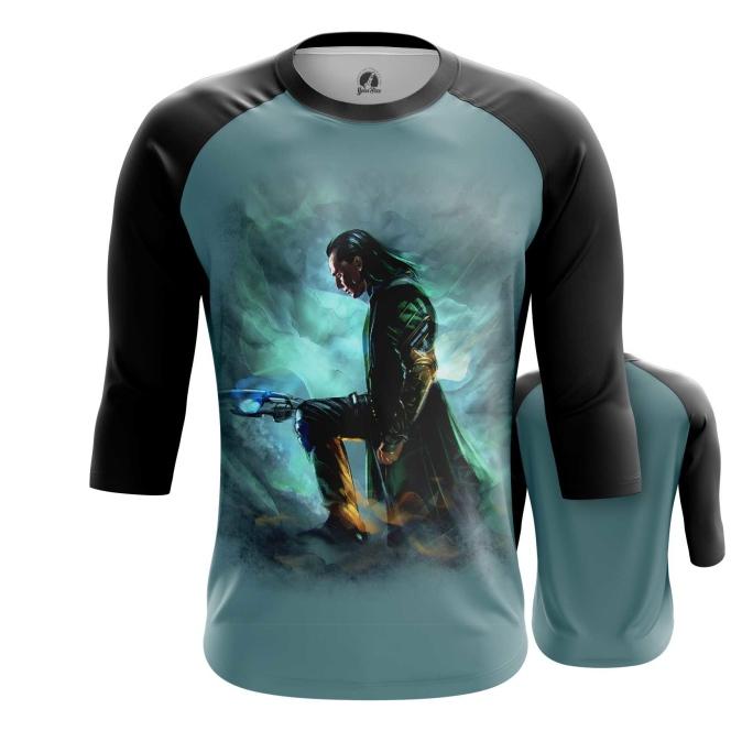 Merchandise Men'S Raglan Loki Chitauri Scepter Print