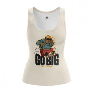 Merchandise Women'S Vest Hip Hop Biggie Smalls Go Big Top Tank