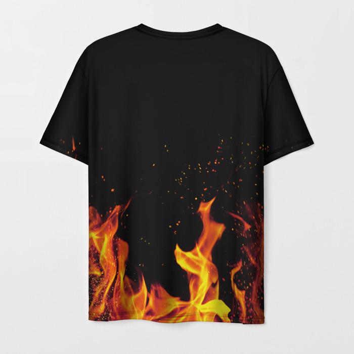 Merch Men'S T-Shirt The Last Of Us Text Fire Black