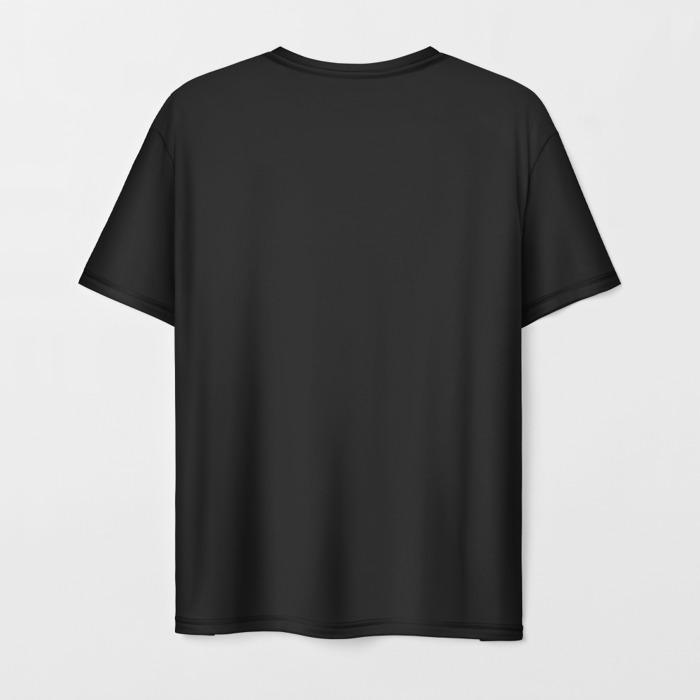 Merch Men'S T-Shirt Black Blueline Design Counter Strike